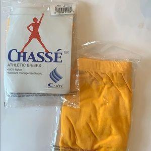 Cheerleading yoga dance briefs gold/yellow